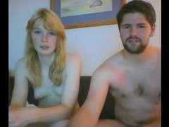 Scandinavian blonde fucks and sucks on webcam