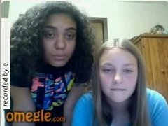 Two chubby girls flashing on Omegle