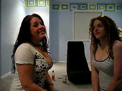 Two topless girls on webcam