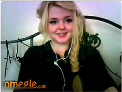 Omegle blonde with pigtail