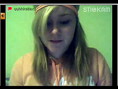 Stickam blonde Katie strip and fingering