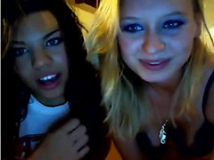 Amateur group sex with two bisexual girls on Chaturbate