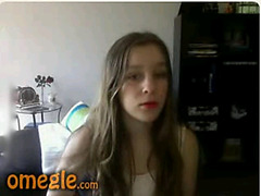 Nasty girl flashing on Omegle