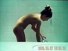 Voyeur video Girl taking shower