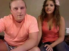 Webcam sex with amateur couple