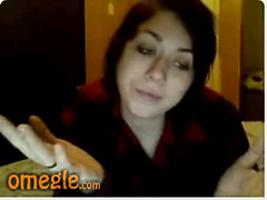 Smoking girl strip and fingering on Omegle