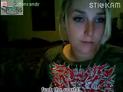 Stickam girl Cottoncandy flashing