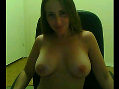 Busty MILF plays with anal beads and vibrator