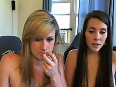 Two lesbians dildoing on Myfreecams