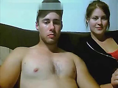 Busty Girlfriend gives blowjob on Chatroulette