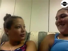 Two girls gets naked on Chatroulette