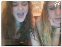 Two Omegle girls playing points game