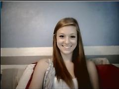 Ex-GF rubbing pussy on Skype
