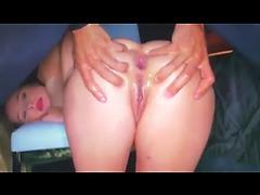 Homemade milky anal